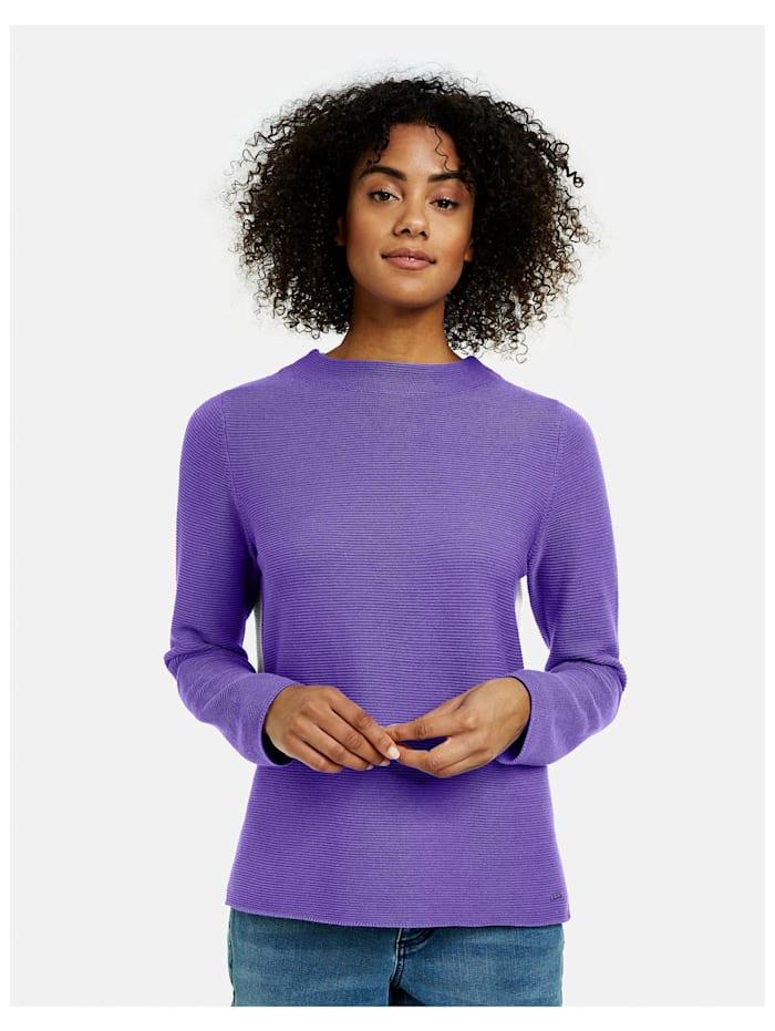 Pullover mit Kontrastrücken