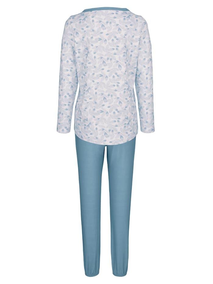 Pyjamas med kort knappslå