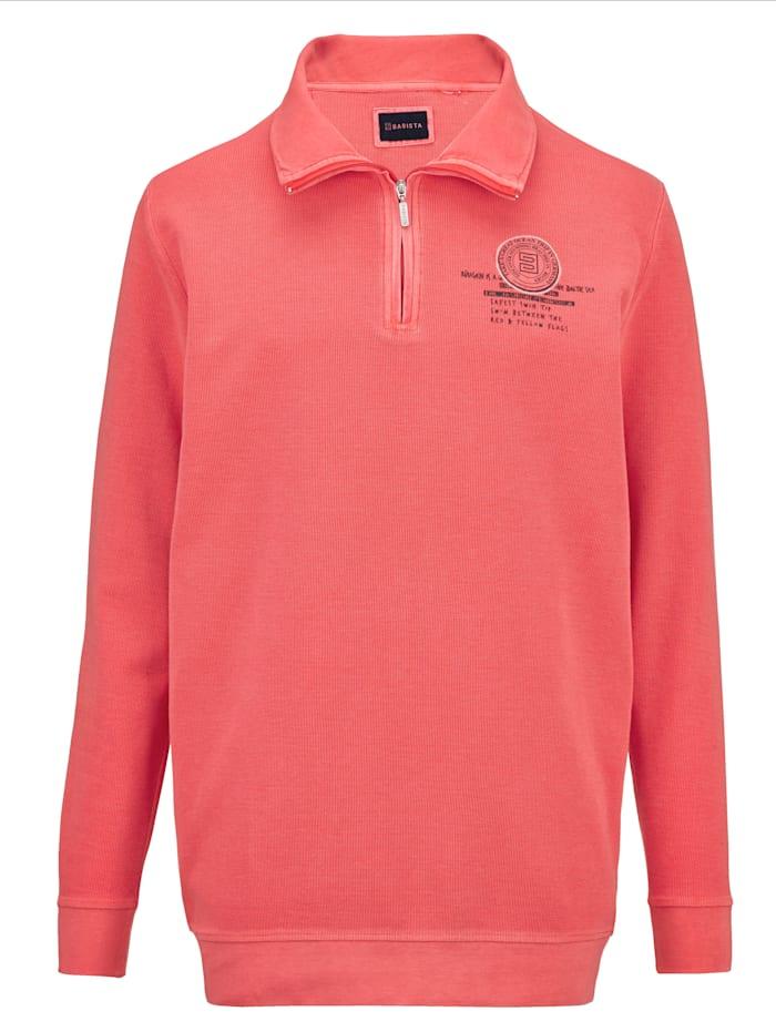 BABISTA Sweat-shirt d'aspect délavé tendance, Rouge clair