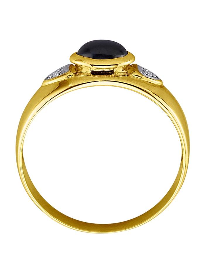 Damesring met saffier en diamanten