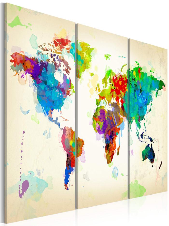 artgeist Wandbild All colors of the World - triptych, Beige