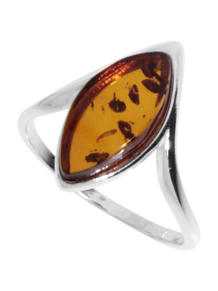 OSTSEE-SCHMUCK Ring - Tordis - Silber 925/000 - Bernstein, silber