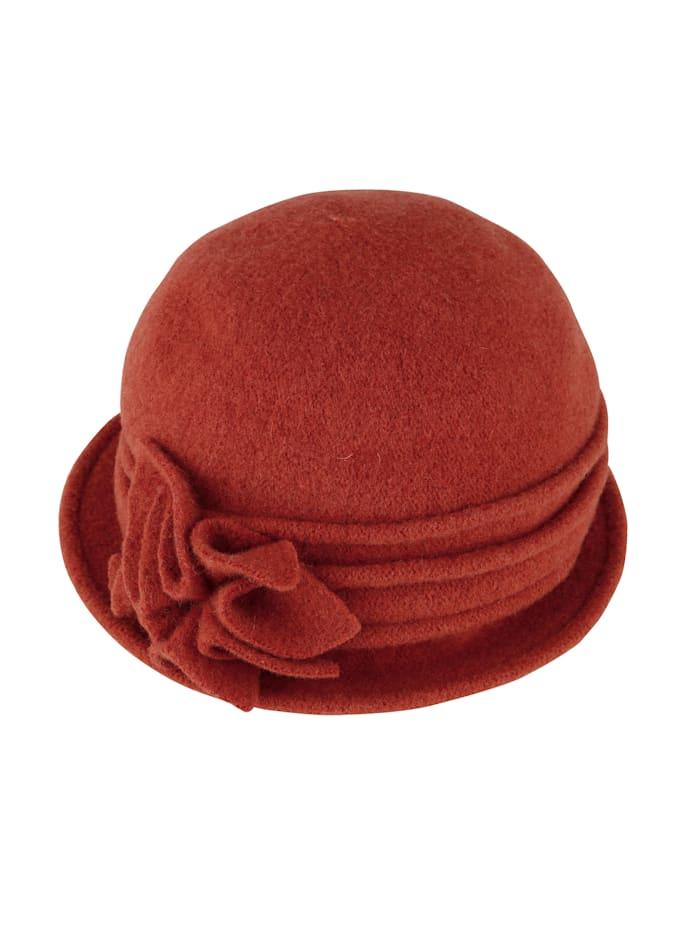 Seeberger Chapeau en laine, Brique