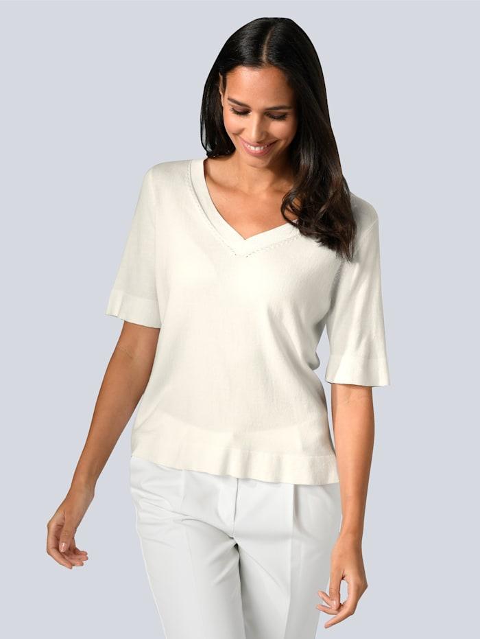 Alba Moda Pullover in leichter Strickart, Off-white
