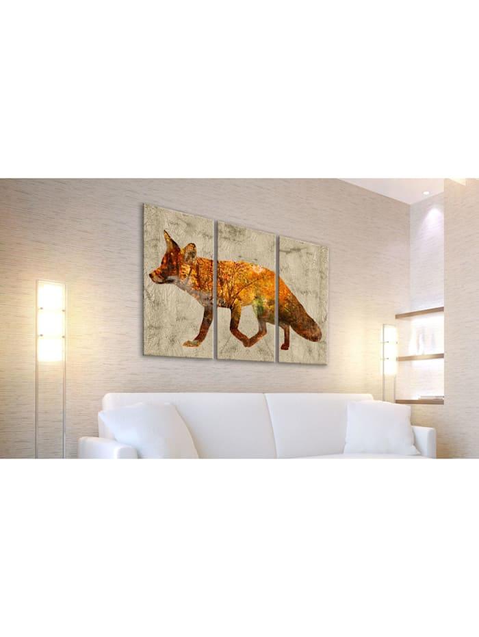 Wandbild Fox in The Wood