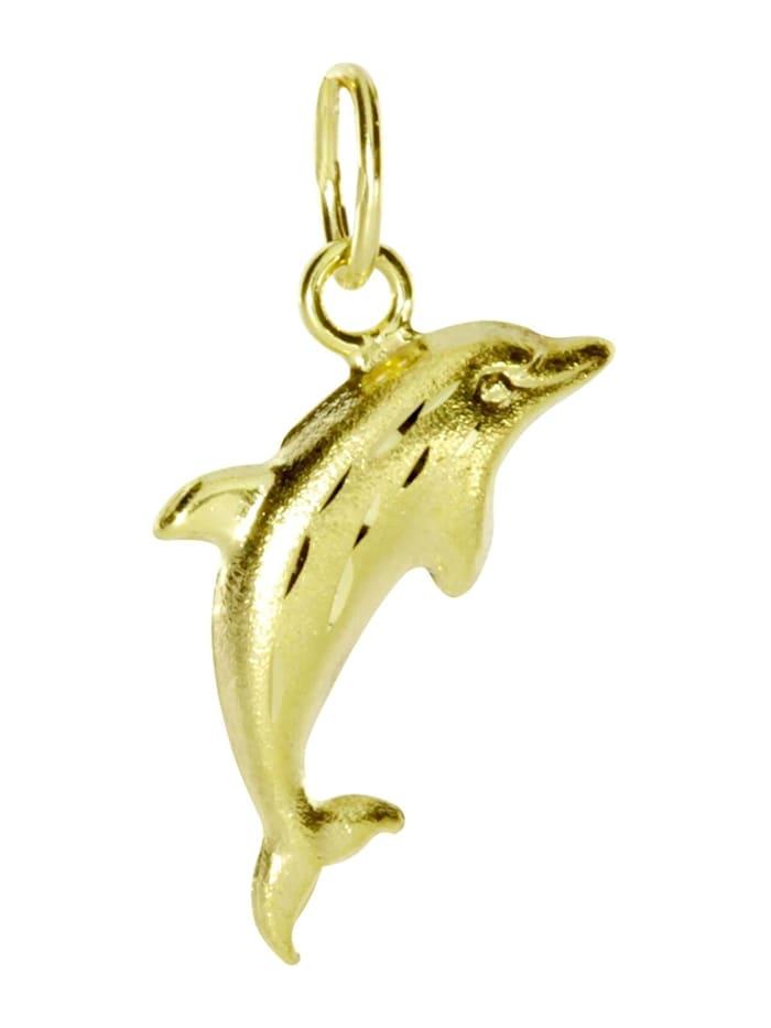 OSTSEE-SCHMUCK Anhänger - Delphin - Gold 333/000 - ,, gelb