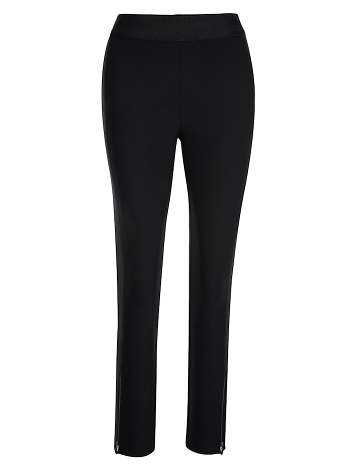 Pull-on trousers with a subtle shimmer