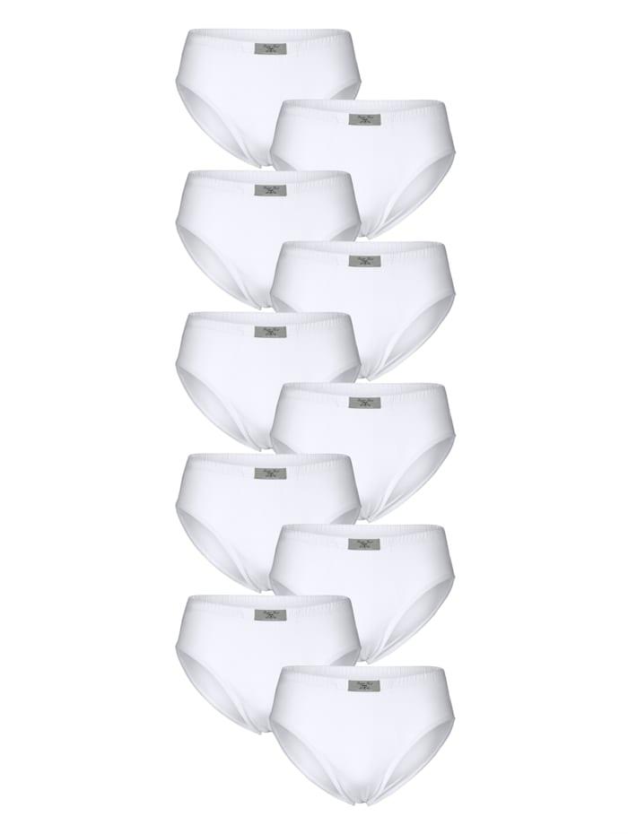 Slips par lot de 10, Blanc
