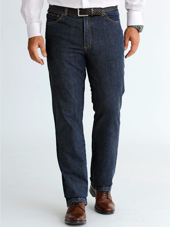 BABISTA Thermojeans met warme thermovoering, Donkerblauw