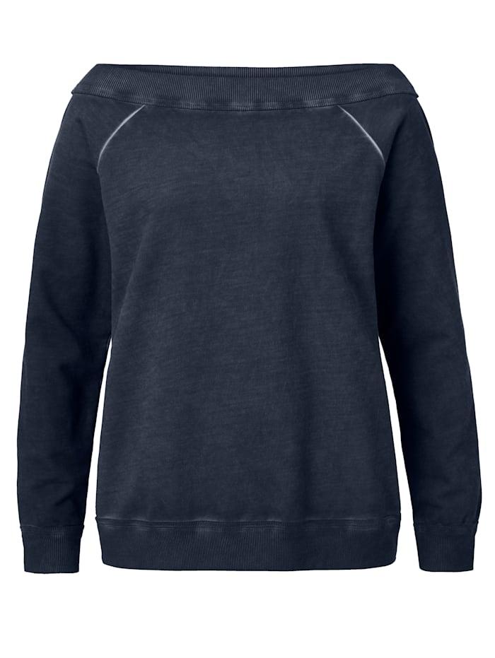 REKEN MAAR Long-Sweatshirt, Dunkelblau