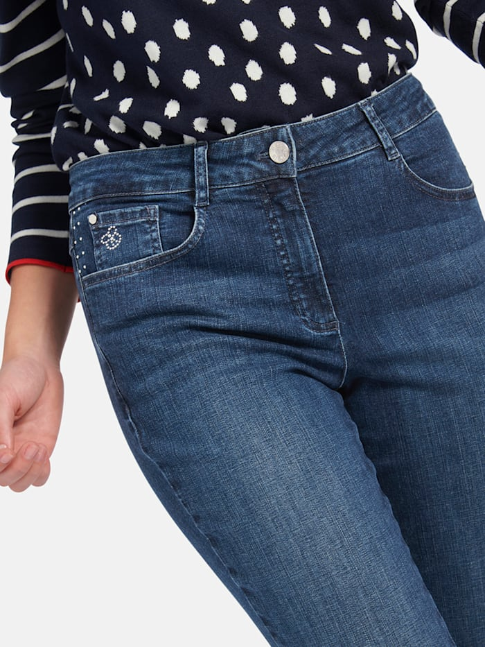 "5-Pocket-Jeans ""Norma"" mit Metallapplikationen"