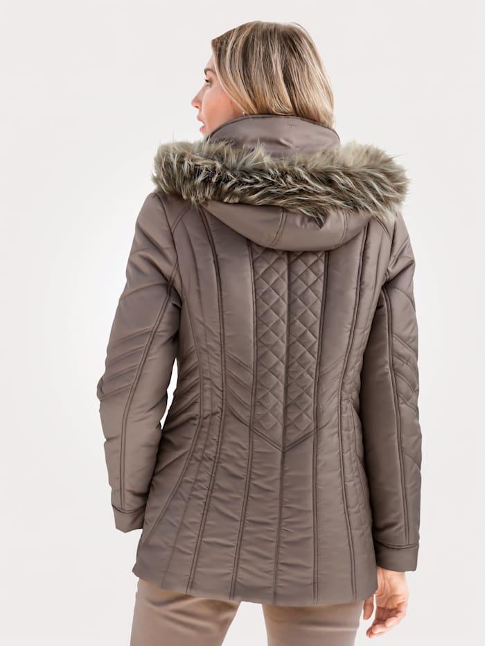 Jacket with decorative stitching