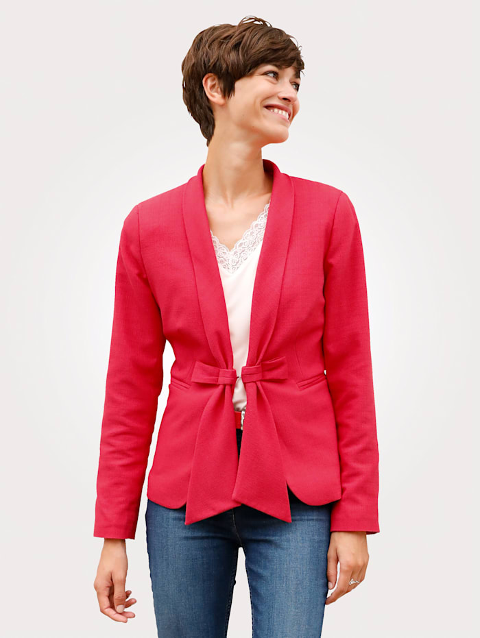 Blazer in a textured fabric