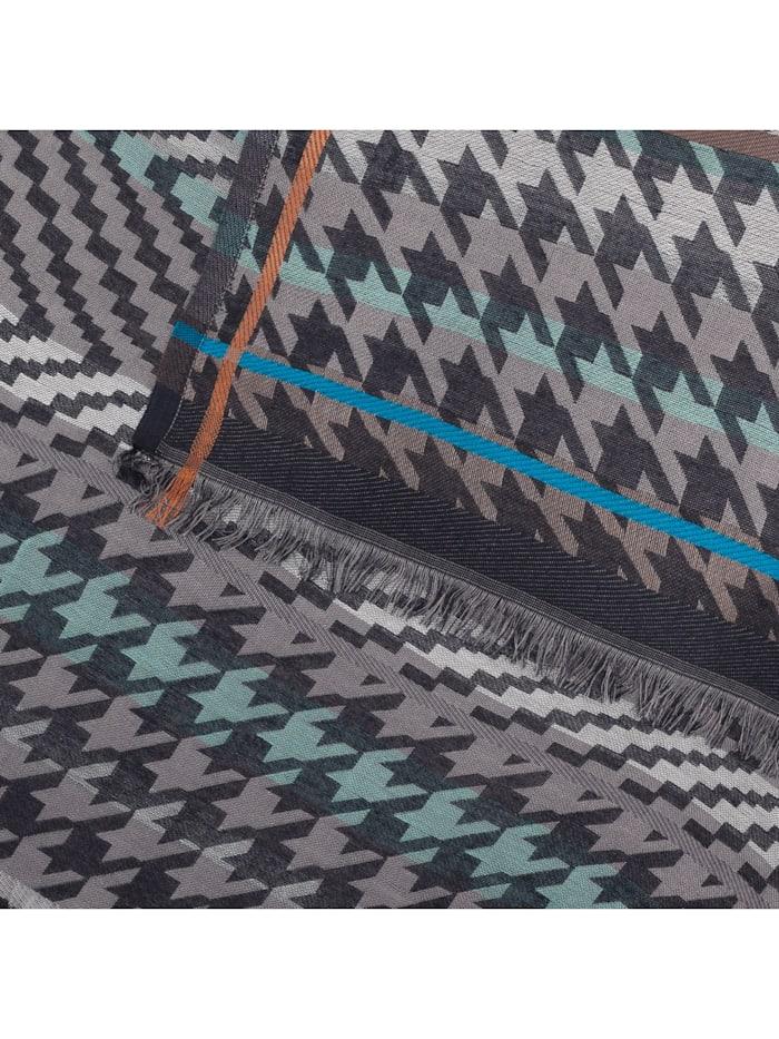 Edler Mustermix-Schal aus Viskose