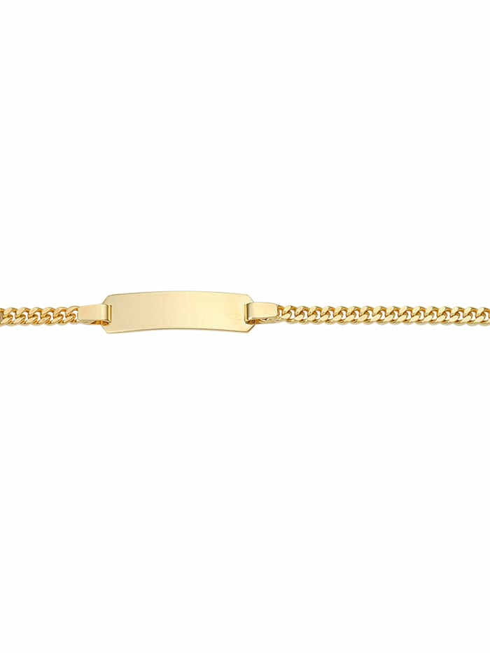 1001 Diamonds 1001 Diamonds Damen Goldschmuck 333 Gold Flach Panzer Armband 14 cm, gold
