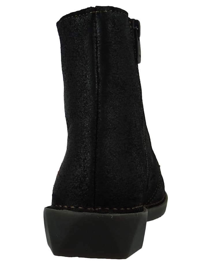 *art Damen Leder Stiefelette Ankle Boot Bergen Night Schwarz 1096, Night