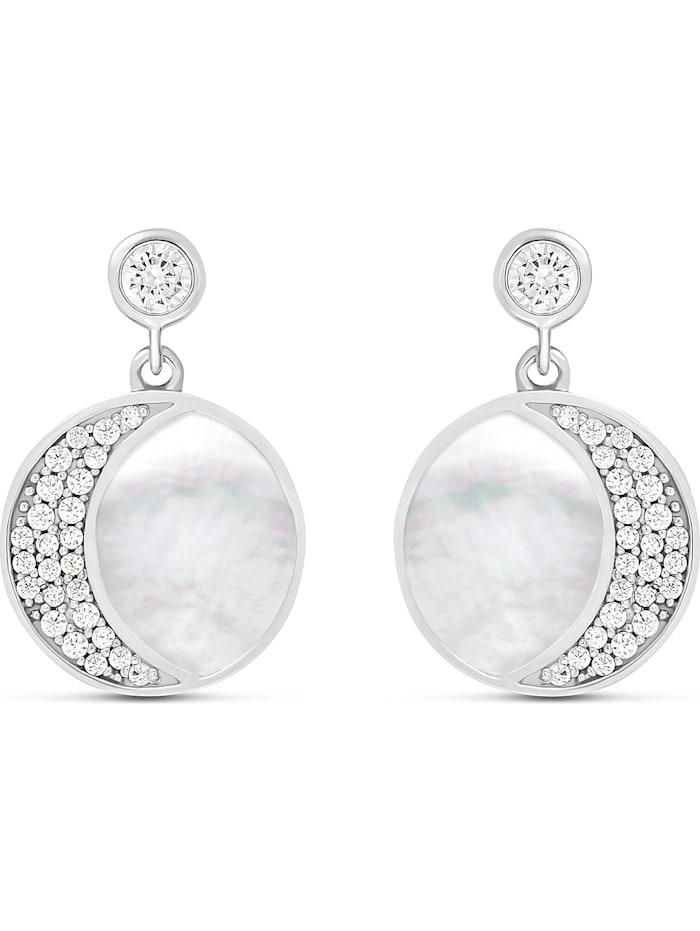 Jette JETTE Damen-Ohrhänger 925er Silber Perlmutt, silber
