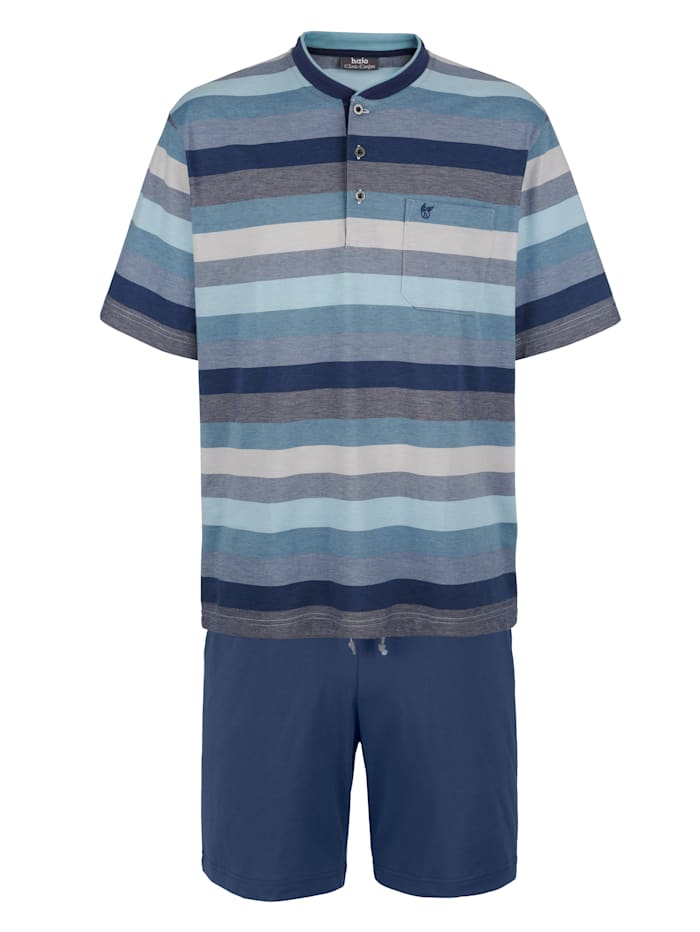 Hajo Shorty in Klima-Komfort-Qualität, Blau
