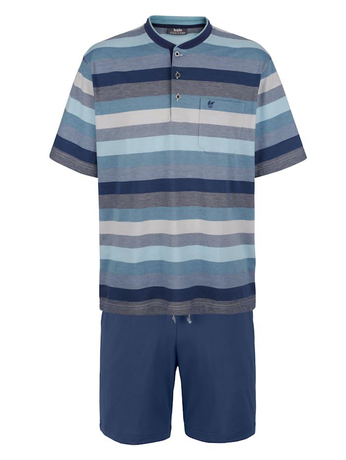 Pyjashort en matière thermorégulatrice, Bleu