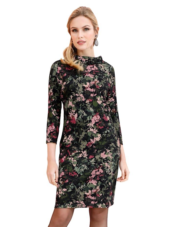 AMY VERMONT Jerseykleid mit modischem Druck, Schwarz/Multicolor