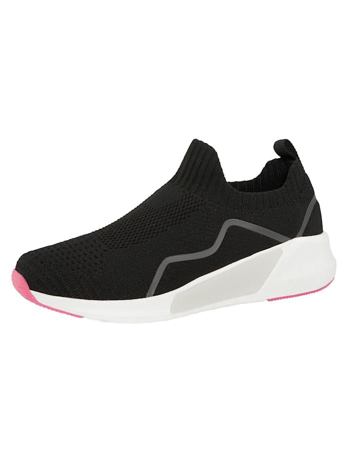 Liva Loop Sneakers à ceinture extensible, Noir