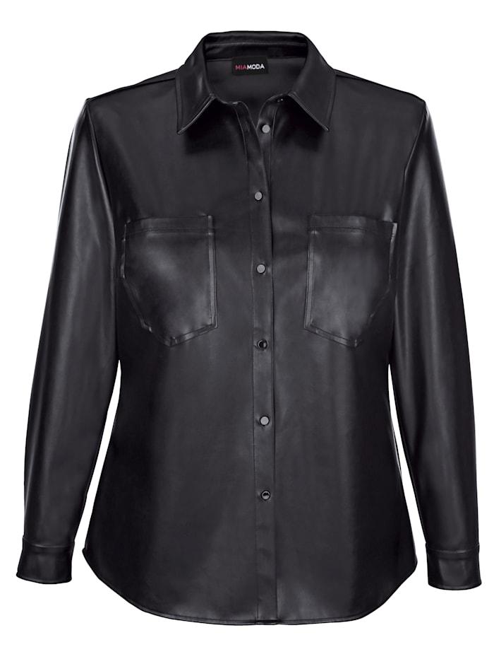 Blusjacka i mjuk skinnimitation