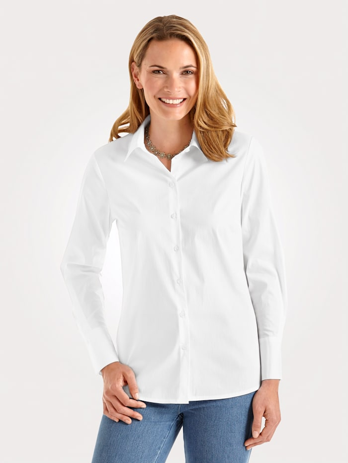 MONA Blouse with cotton, White