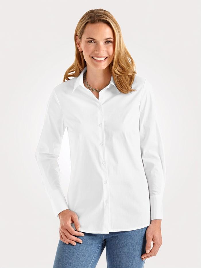 MONA Chemisier en coton mélangé, Blanc