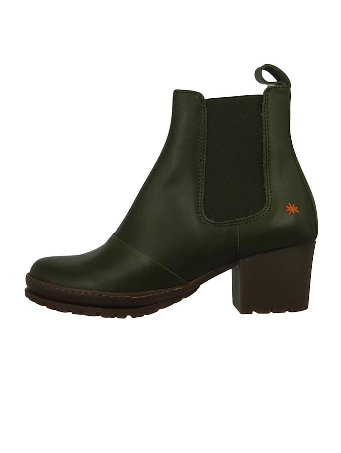 Damen Leder Stiefelette Ankle Boot Camden Kaki Grün 1235