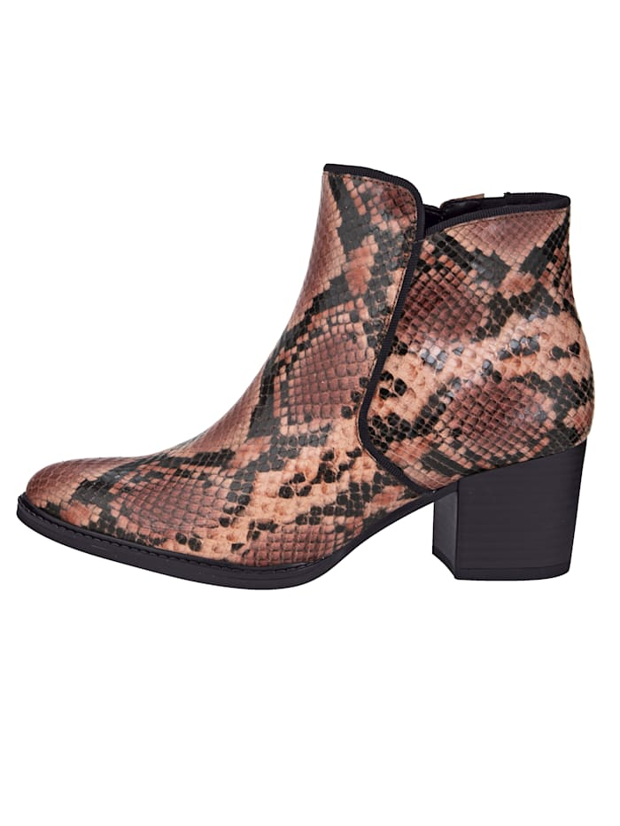 Ankle Boots in an elegant snake look