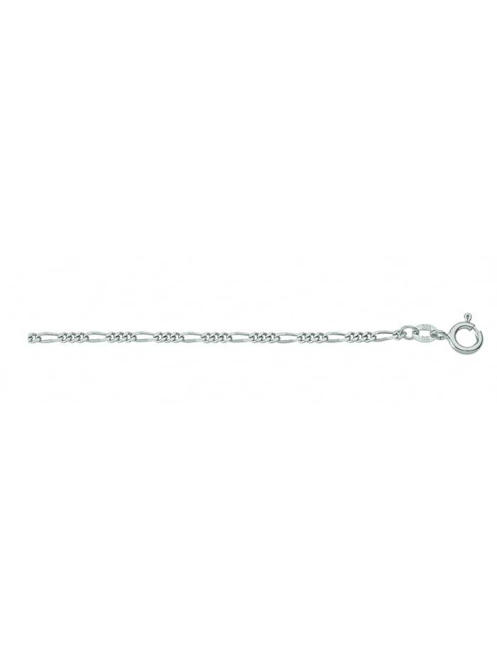 1001 Diamonds Damen Silberschmuck 925 Silber Figaro Halskette Ø 1,8 mm, silber