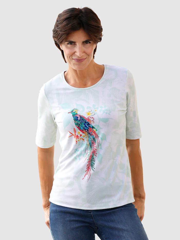 Paola T-shirt signé RABE, Vert clair/Blanc