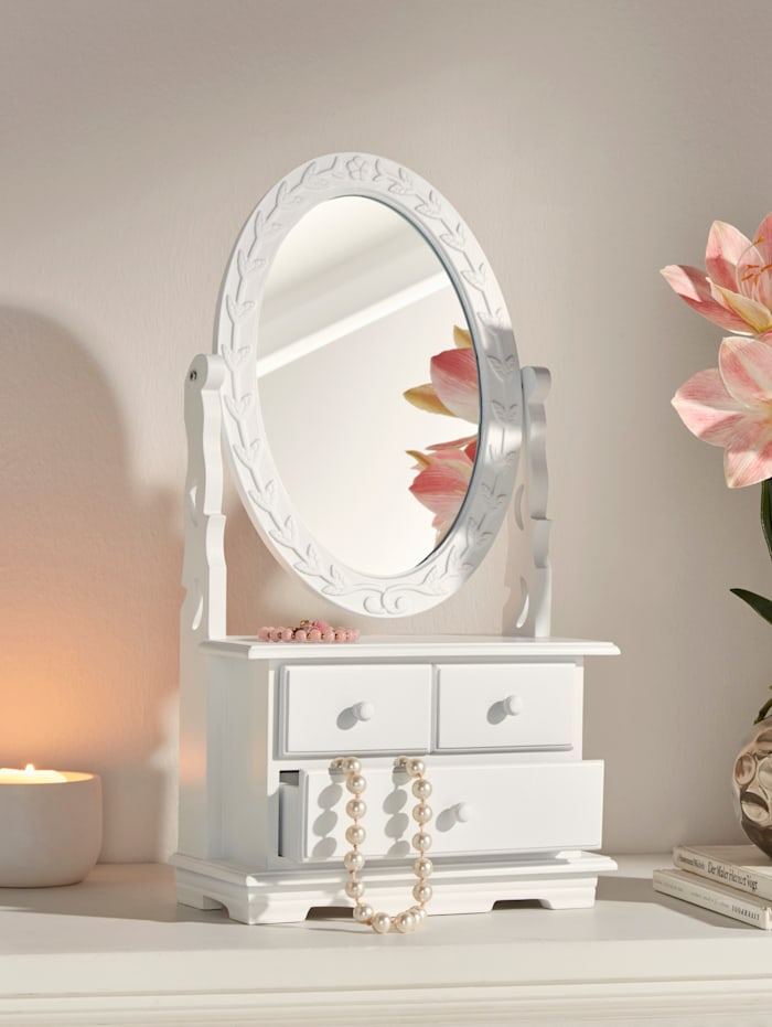 Mini-Kommode mit Spiegel