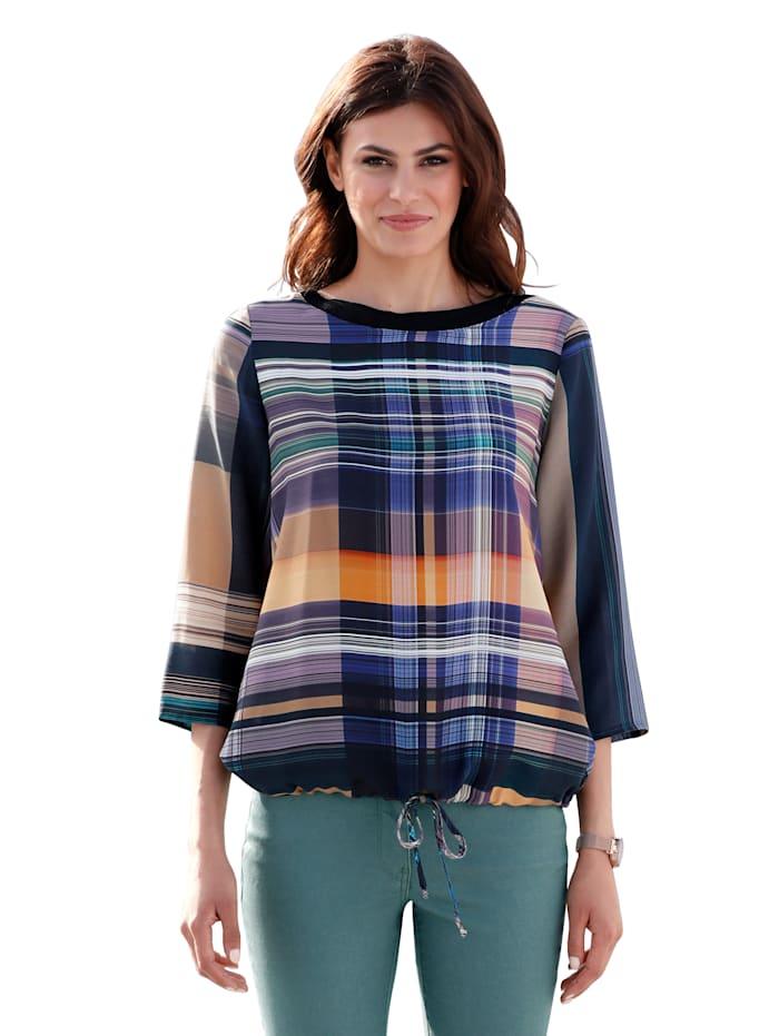 AMY VERMONT Bluse mit modischem Karomuster, Multicolor