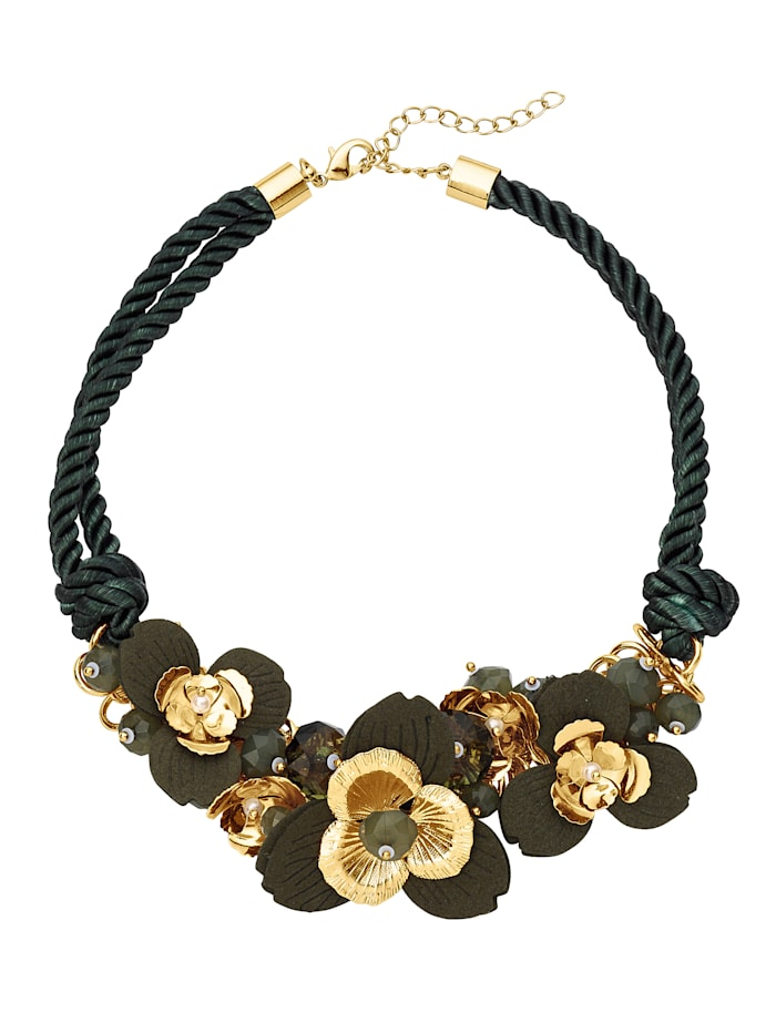 Floral Necklace, Green
