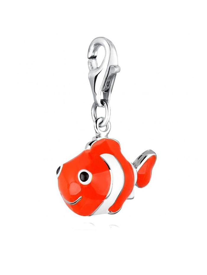 Charm Anhänger Clownfisch Fisch Bunt Emaille 925 Silber