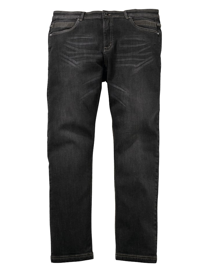Men Plus Jeans in 5- Pocket Form, Black