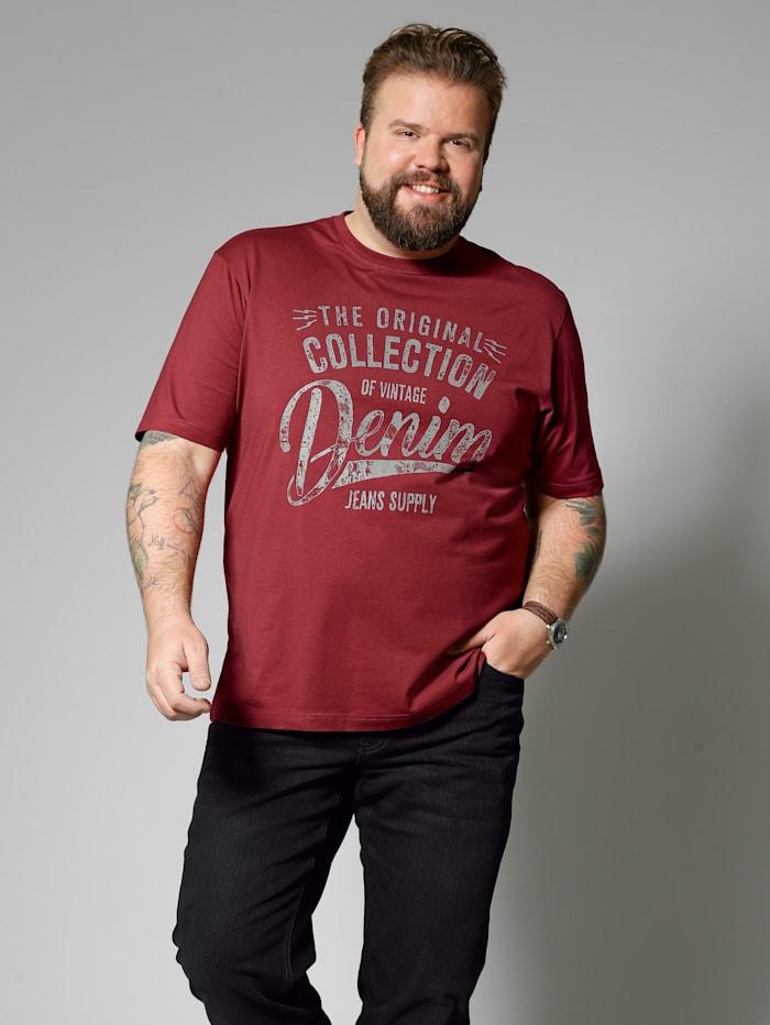 Men Plus T-Shirt, Rot