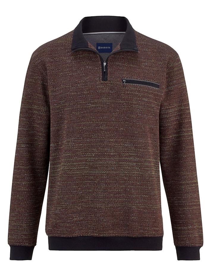 BABISTA Sweat-shirt en coton ennobli mélangé à microfibre, Noir/Multicolore