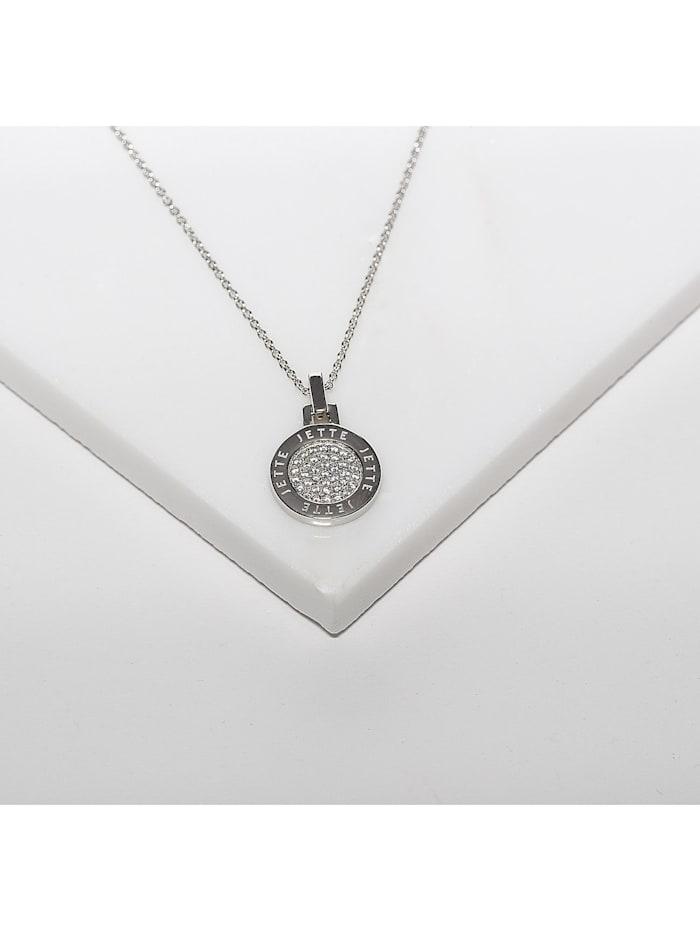 JETTE Damen-Kette 925er Silber rhodiniert 37 Zirkonia