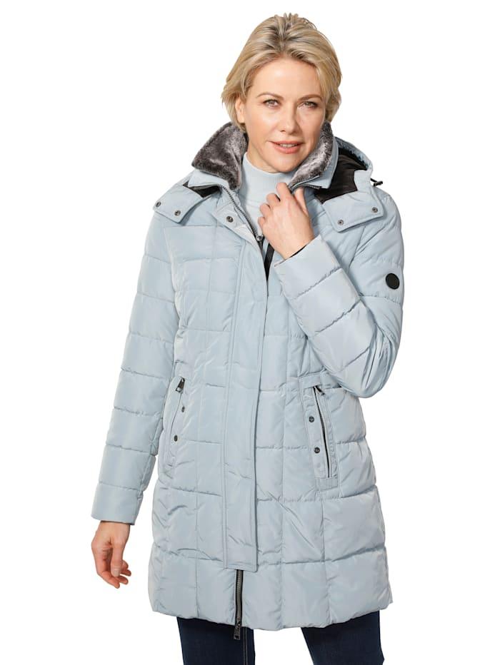Barbara Lebek Veste avec empiècement en fausse fourrure, Bleu glacier