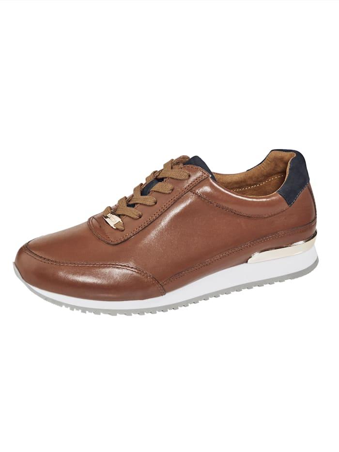 MONA Sneakers au superbe look, Cognac