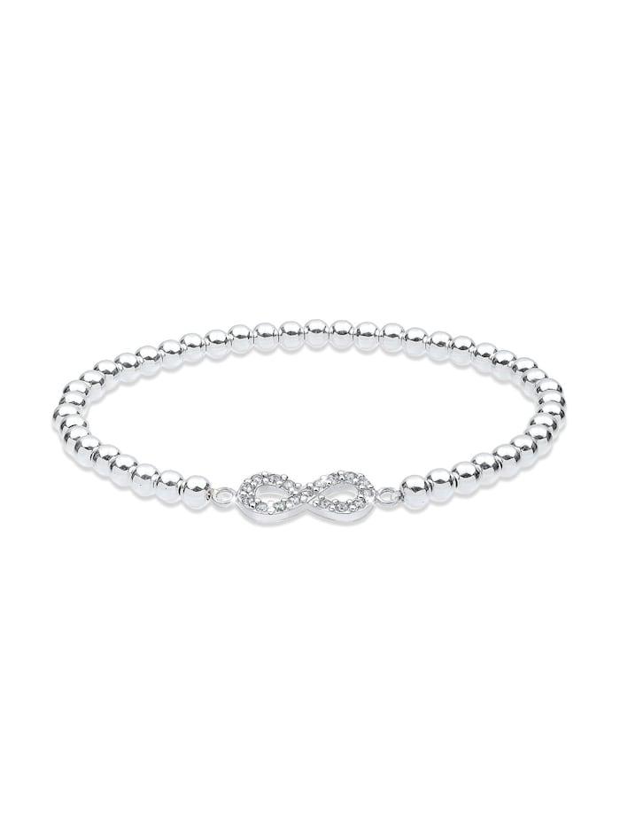Elli Armband Infinity  Kristalle 925 Silber, Weiß