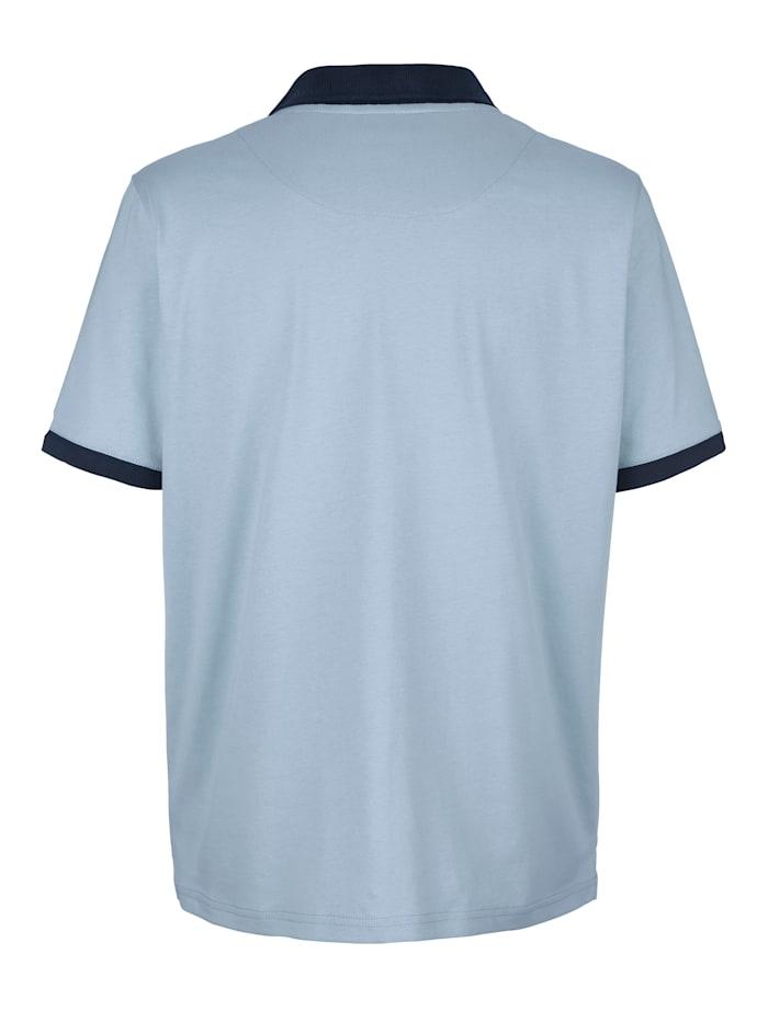 Poloshirt mit Druck auf der Brust