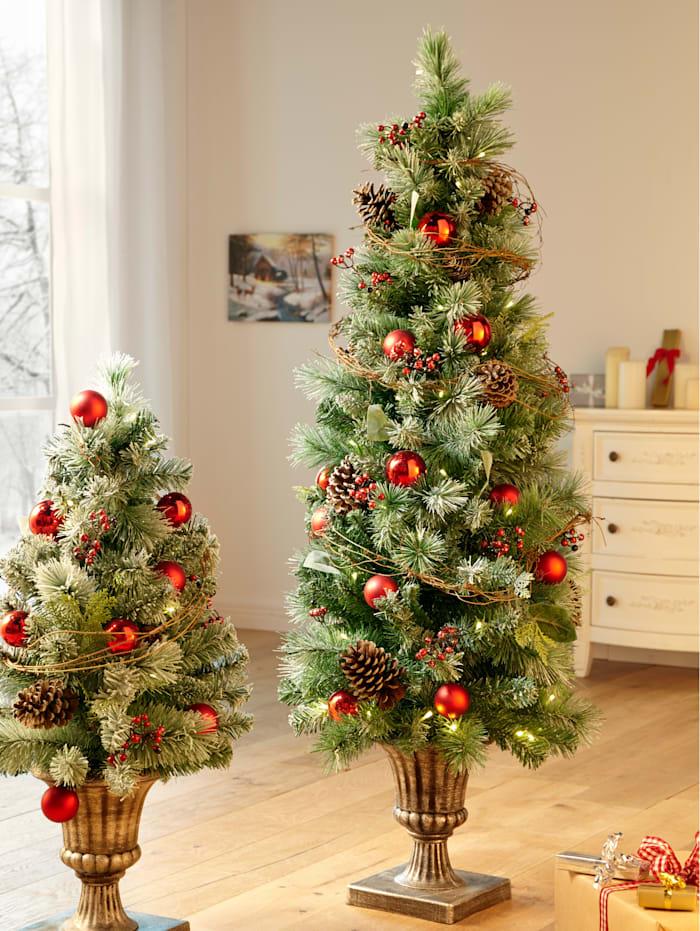LED Weihnachsbaum im Pokal, grün/rot