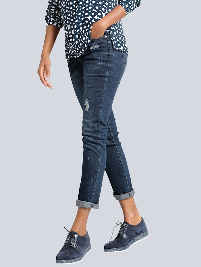Jeans i boyfriend-stil