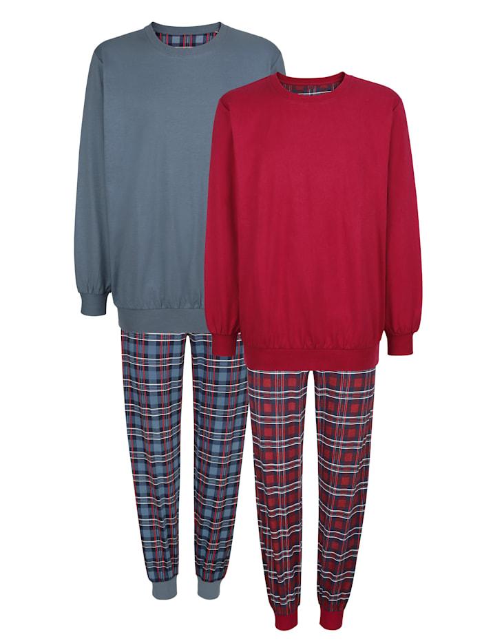 Roger Kent Pyžama, 2ks, Červená