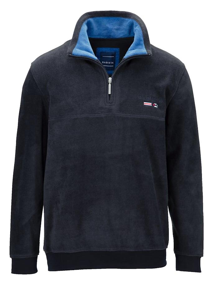 BABISTA Fleece-Sweatshirt, Marineblau