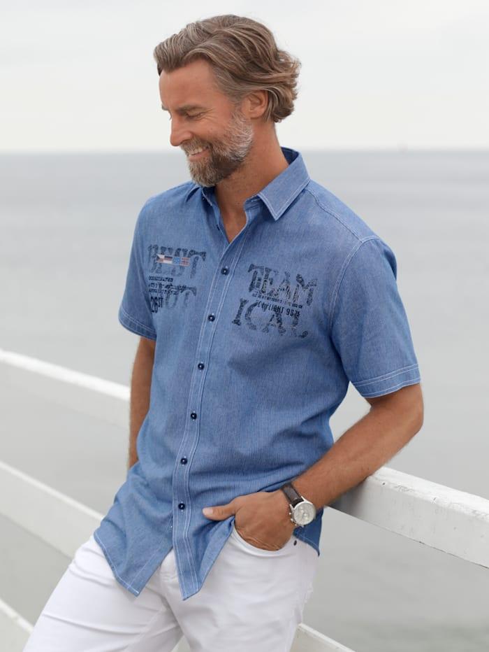 BABISTA Overhemd met fijne streepjes, Blauw