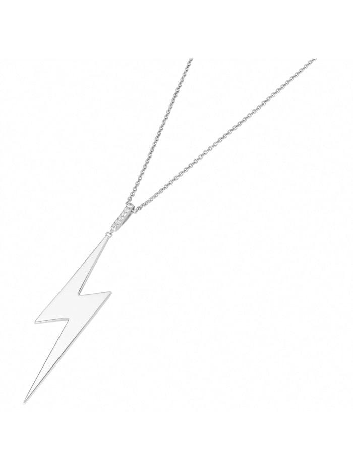 Giorgio Martello Kette Blitz, mit weißen Zirkonia, Silber 925, Silber